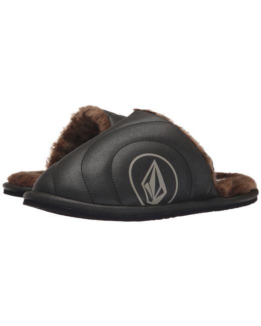 Volcom | Black Slacker Slipper | Lyst