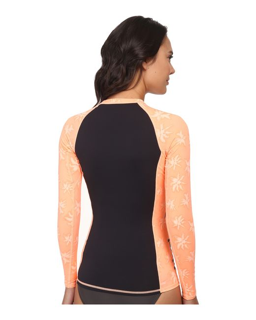 Hurley | Orange One & Only L/s Rashguard | Lyst