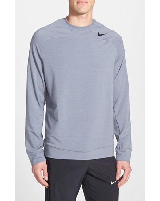 Nike | Black Dri-fit Raglan Long Sleeve Crewneck for Men | Lyst