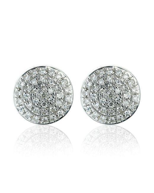 Monica Vinader | Metallic Silver Ava Button Studs | Lyst
