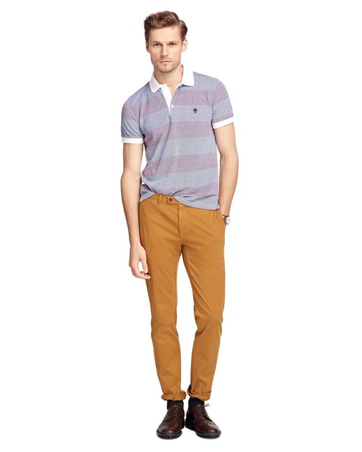 Brooks Brothers | Metallic Slim Fit Garment-dyed Chinos for Men | Lyst