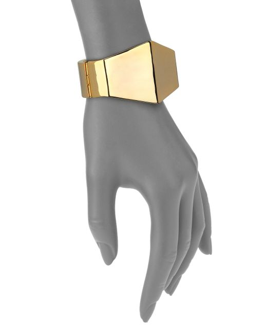 Kenneth Jay Lane | Metallic Hexagon Super Hero Cuff Bracelet | Lyst