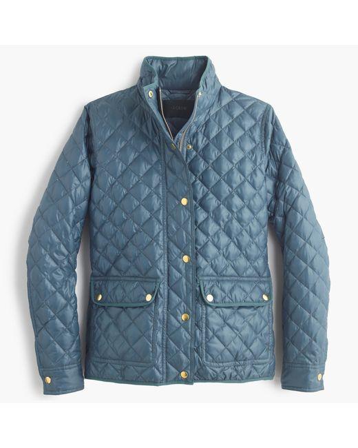 J.Crew | Blue Tall Shiny Downtown Field Puffer Jacket | Lyst
