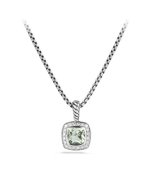 David Yurman | Metallic Petite Albion Pendant Necklace With Prasiolite And Diamonds | Lyst