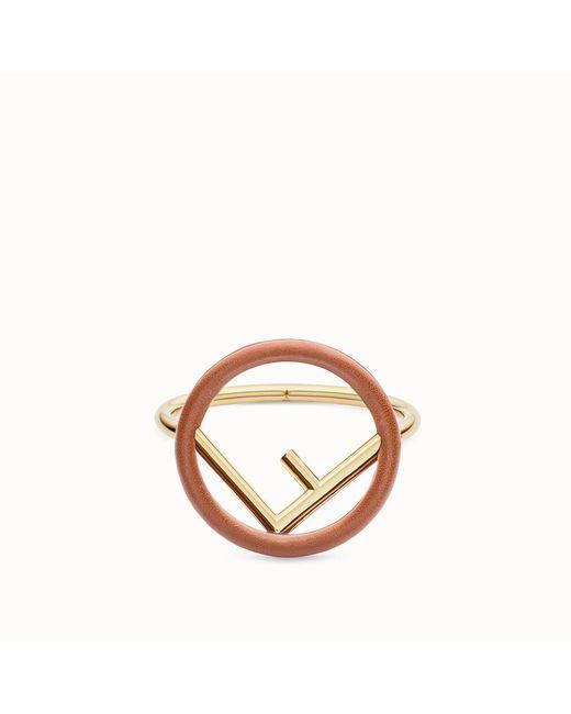Fendi - Brown F Is Bracelet F Is Bracelet - Lyst