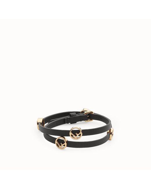 Fendi - Black F Is Bracelet F Is Bracelet - Lyst