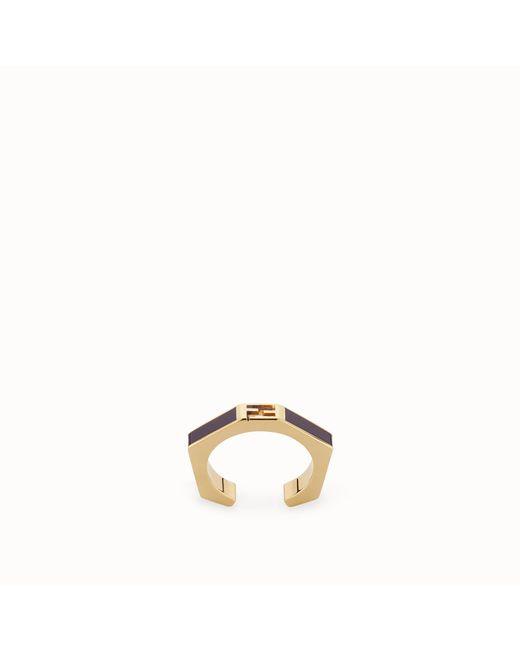 Fendi - Purple Baguette Ring Baguette Ring - Lyst
