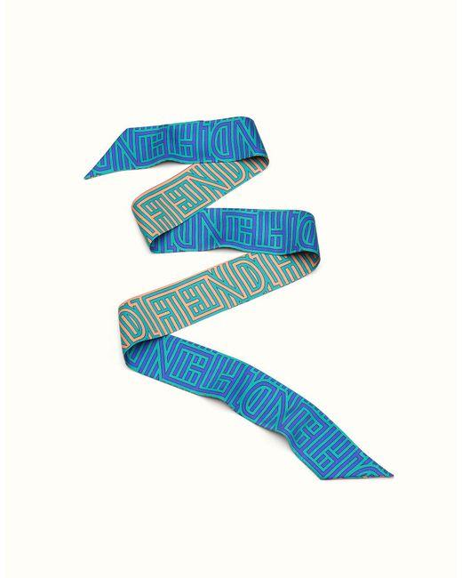 Fendi | Blue Optical Wrappy Optical Wrappy | Lyst