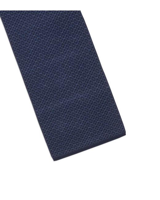 Ferragamo - Blue Gancini Wool Scarf for Men - Lyst