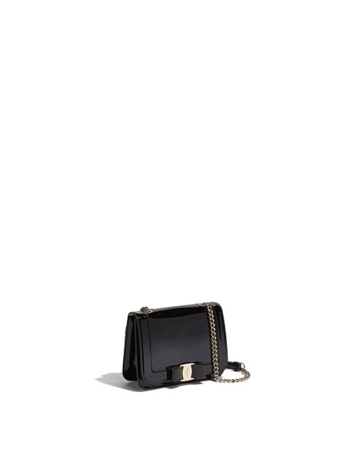 5118ab159fce Ferragamo - Black Vara Bow Flap Bag - Lyst ...