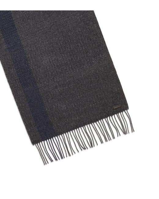 Ferragamo - Blue Silk And Cashmere Scarf for Men - Lyst