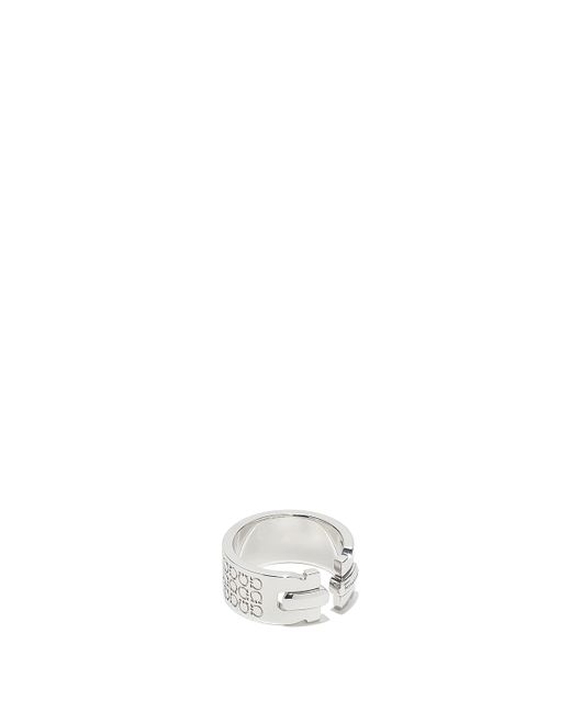 Ferragamo - Metallic Wide Gancini Ring for Men - Lyst