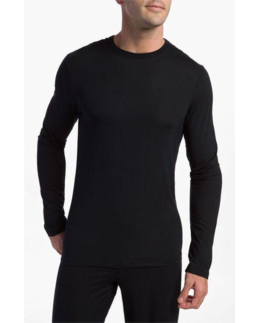 Calvin Klein | Black 'u1139' Micromodal Long Sleeve T-shirt for Men | Lyst