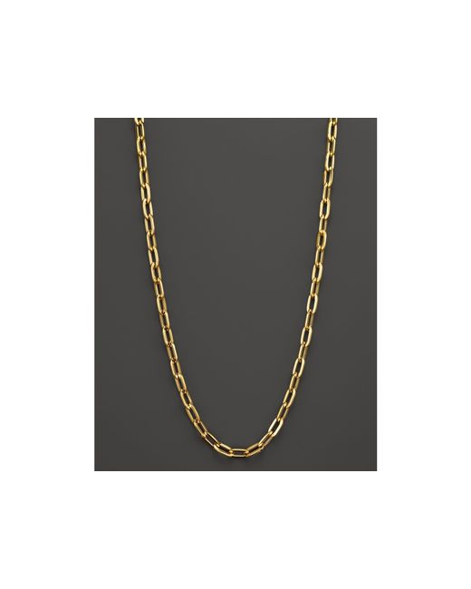 Roberto Coin | Metallic 18k Yellow Gold Oval Necklace, 16"
