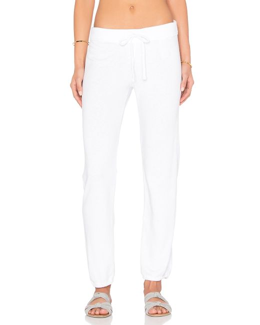 James Perse Genie Sweat Pant In White