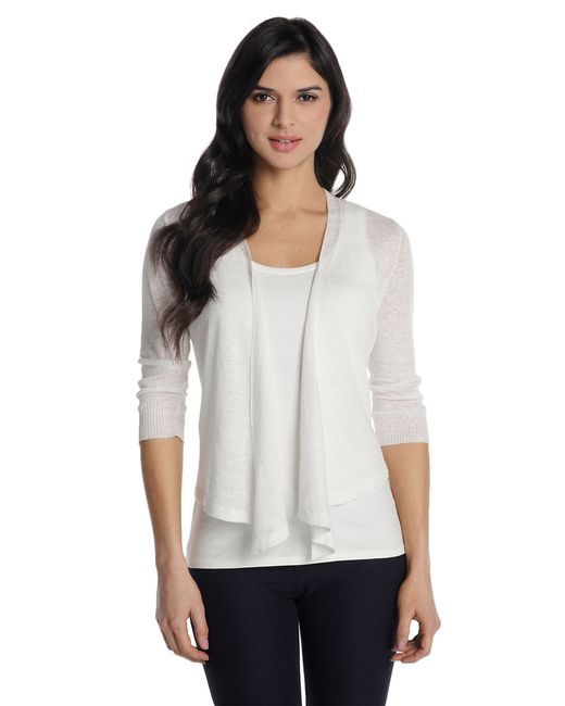 NIC+ZOE | White Four-way Cardigan | Lyst