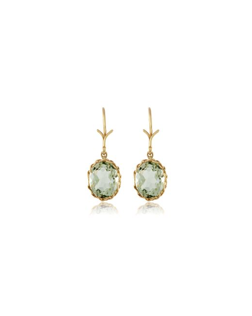 Dean Harris | Green Quartz Faceted Oval Earrings | Lyst