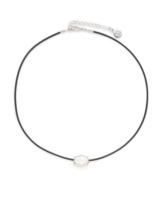 Majorica | White 14mm Ringed-pearl Cord Necklace | Lyst
