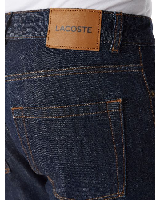 Lacoste | Blue 5 Pocket Denim Jeans for Men | Lyst