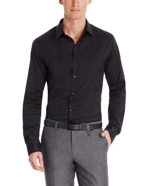 Hugo 39 Elisha 39 Slim Fit Stretch Cotton Button Down Shirt
