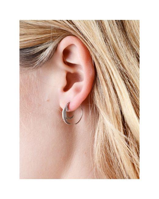 Lee Renee | Metallic Duck Feather Hoop Earrings Gold Vermeil | Lyst