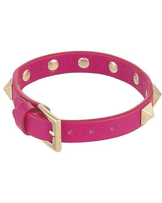 Valentino | Pink Rockstud Small Bracelet - For Women | Lyst