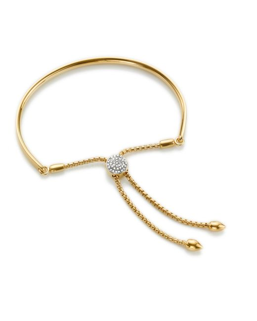 Monica Vinader | Metallic Fiji Diamond Toggle Petite Bracelet | Lyst