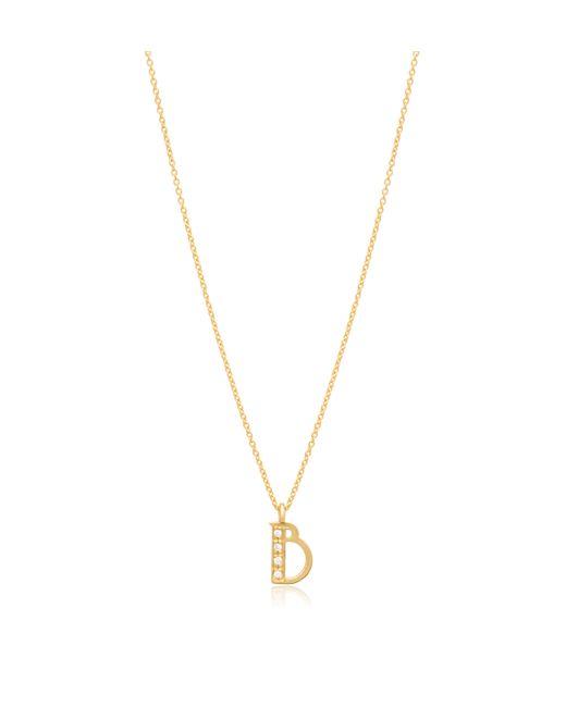 Jennie Kwon   Metallic Art Deco Letter Necklace   Lyst