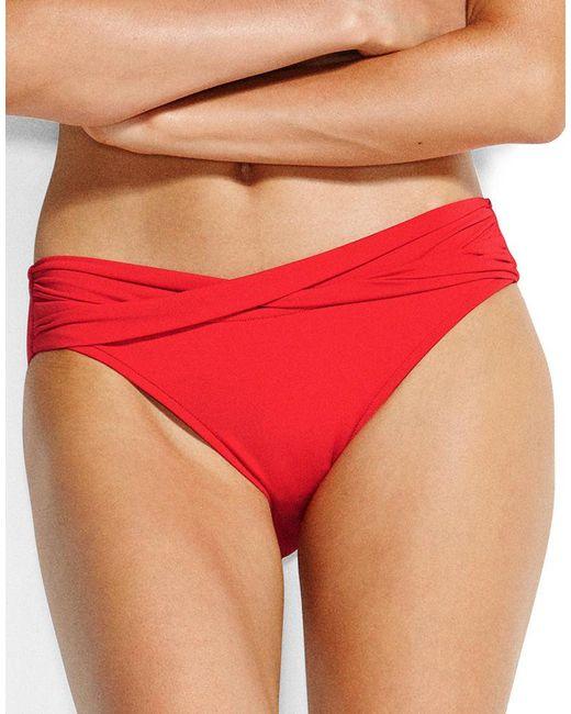 Seafolly - Red Twist Hipster Bikini Brief - Lyst
