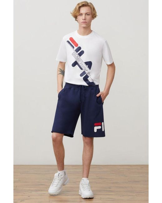cf609226117c Fila - Blue George Short for Men - Lyst ...