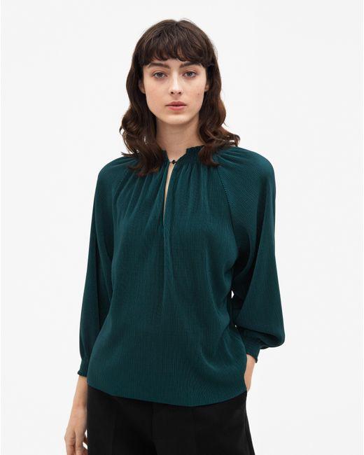 Filippa K - Green Mini Plissé Evening Top Emerald - Lyst