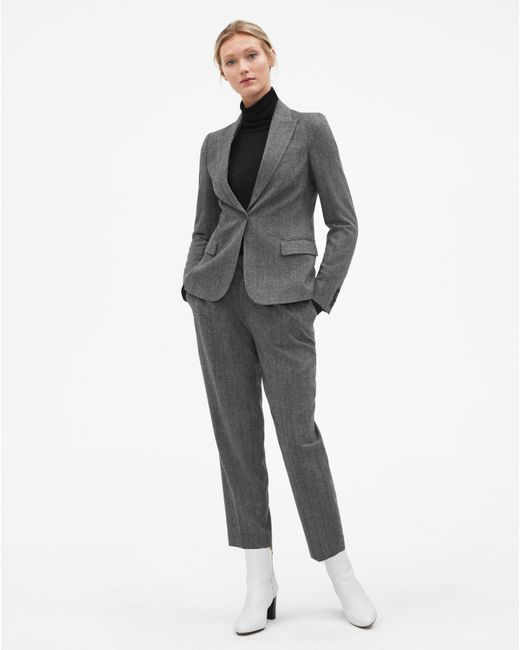 Filippa K - Gray Simone Herringbone Trousers Grey - Lyst
