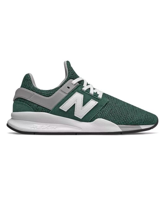 fe039a70ea18a Lyst - New Balance Ms247fi Casual Sneakers, Green/white in Green for Men