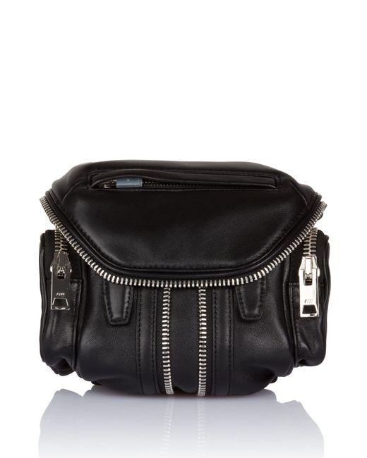Alexander Wang - Micro Marti Black Leather Crossbody Bag - Lyst