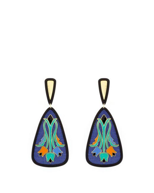 Anna E Alex - Tulip Deco Earrings In Blue - Lyst