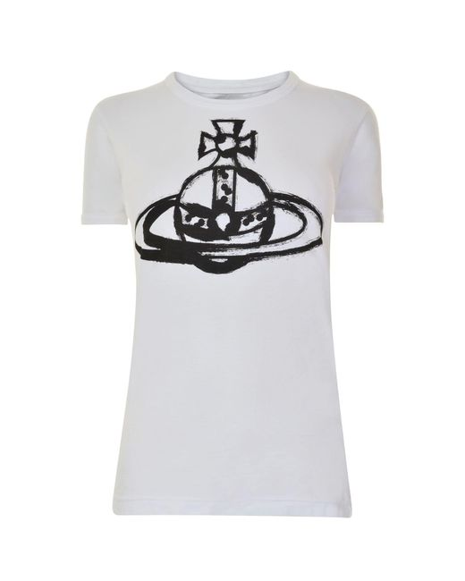 Vivienne Westwood Anglomania - White Brushstroke Orb T Shirt - Lyst
