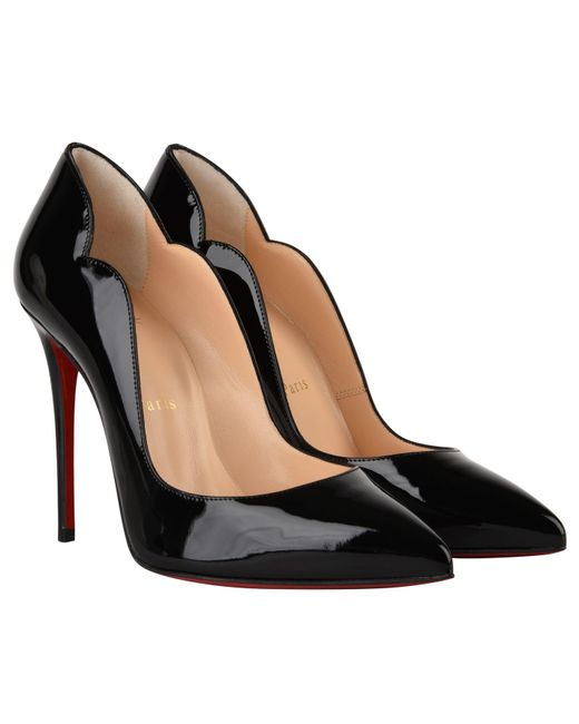 aac94111643 ... Christian Louboutin - Black Patent Hot Chick Heels - Lyst ...