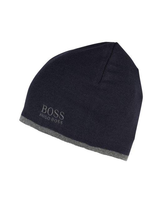 2db12501ccb ... BOSS Athleisure - Blue Logo Beanie for Men - Lyst ...