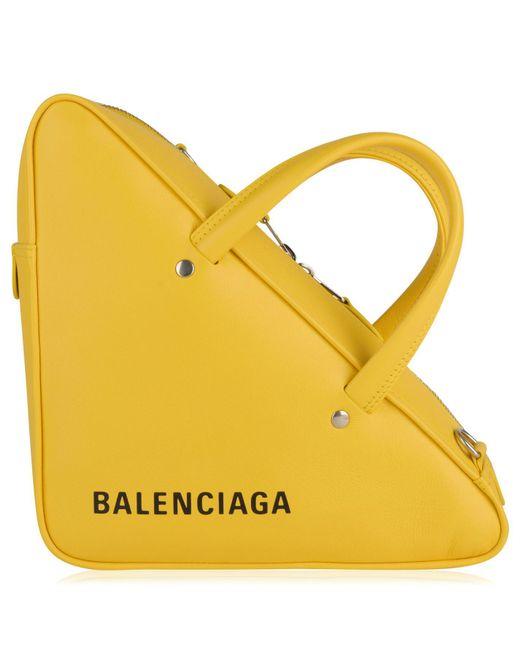 Balenciaga - Yellow Triangle Duffle Bag - Lyst