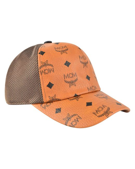 new style mcm hats aaaleather 001 153dd be589  usa mcm multicolor visetos  mesh cap for men lyst 06655 7982a 9d567e7a9f9d