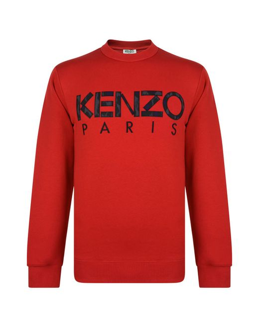 KENZO - Red Paris Crew Sweatshirt for Men - Lyst