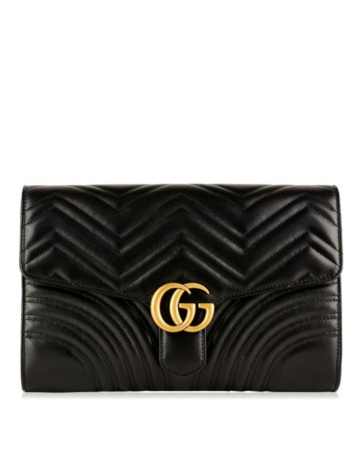 Gucci - Black Gg Marmont Clutch Bag - Lyst
