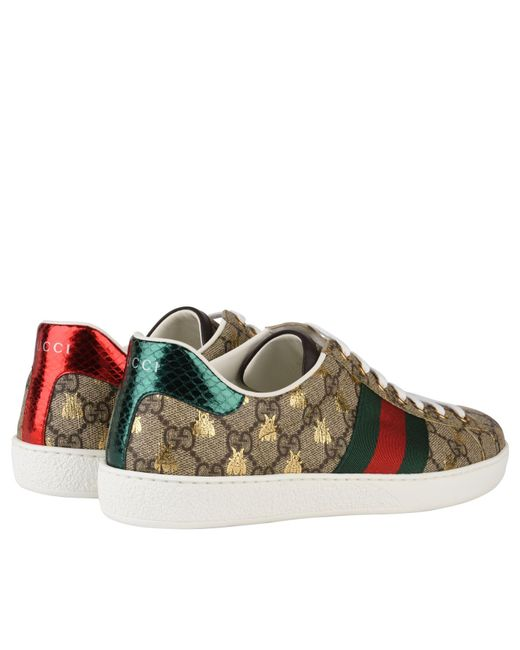 7dc07e31cc6 ... Gucci - Multicolor New Ace Bee Gg Trainers for Men - Lyst ...