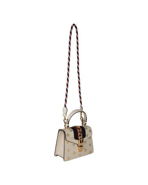 8b745f91a7c4 ... Gucci - Multicolor Sylvie Mini Bee Star Bag - Lyst ...