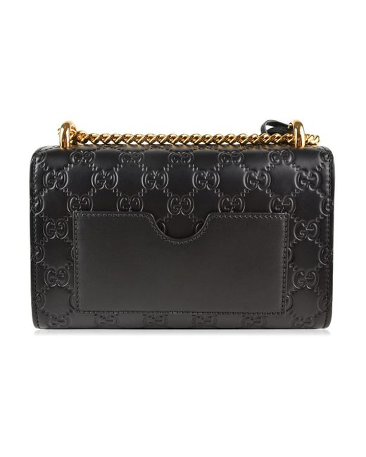 a77ef6c0207 ... Gucci - Black Padlock Signature Shoulder Bag - Lyst ...