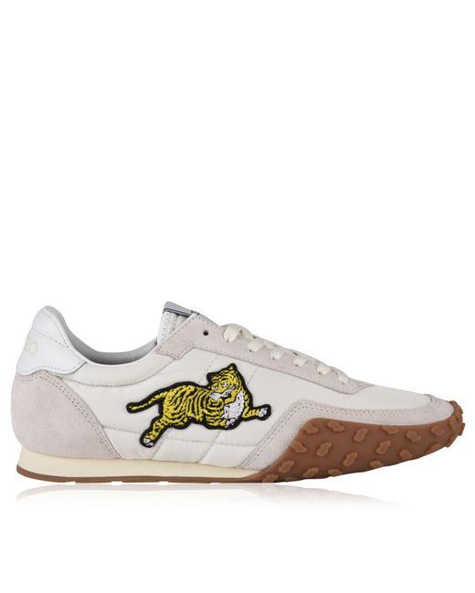 KENZO - Gray Embroidered Tiger Sneakers for Men - Lyst