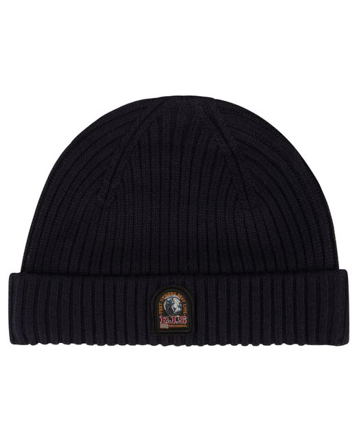 Parajumpers - Blue Rib Knitted Beanie Hat for Men - Lyst