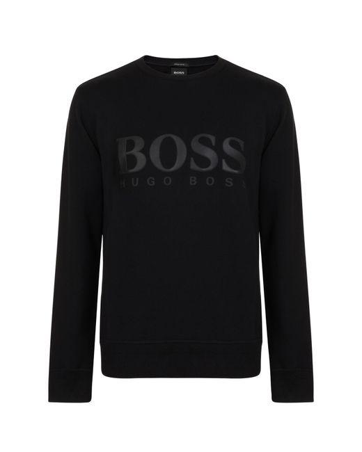BOSS - Black Logo Sweatshirt for Men - Lyst