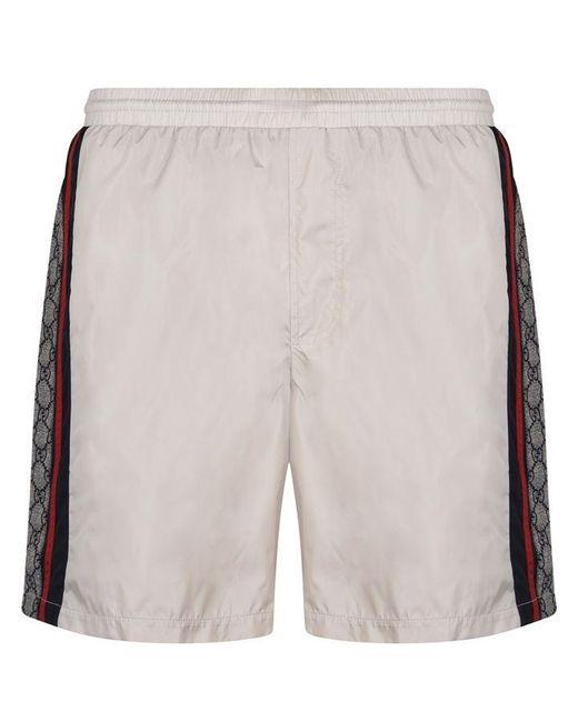 Gucci Multicolor Gg Print Nylon Swim Shorts for men