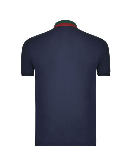 c78bb2b8252 ... Gucci - Blue Contrast Collar Polo Shirt for Men - Lyst ...